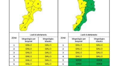 Criticità idrogeologica-idraulica e temporali in Calabria 03-12-2020