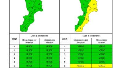 Criticità idrogeologica-idraulica e temporali in Calabria 04-12-2020