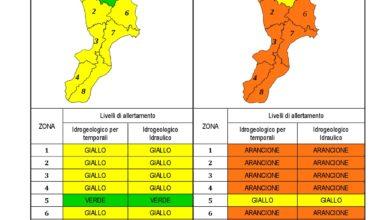 Criticità idrogeologica-idraulica e temporali in Calabria 05-12-2020