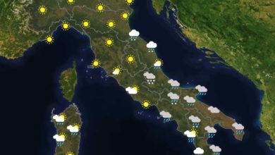 Previsioni del tempo in Italia per il giorno 11/01/2021