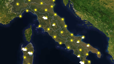 Previsioni del tempo in Italia per il giorno 13/01/2021
