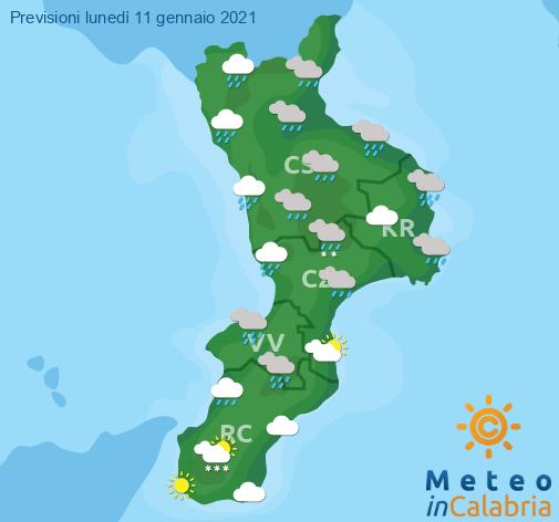 Previsioni Meteo Calabria 11-01-2021
