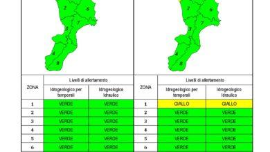 Criticità idrogeologica-idraulica e temporali in Calabria 08-01-2021