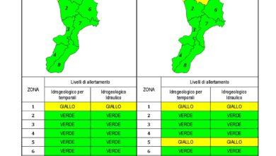 Criticità idrogeologica-idraulica e temporali in Calabria 09-01-2021