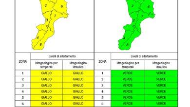Criticità idrogeologica-idraulica e temporali in Calabria 15-01-2021