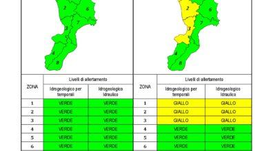 Criticità idrogeologica-idraulica e temporali in Calabria 22-01-2021