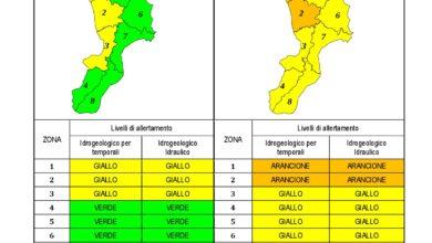 Criticità idrogeologica-idraulica e temporali in Calabria 23-01-2021