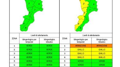 Criticità idrogeologica-idraulica e temporali in Calabria 30-01-2021