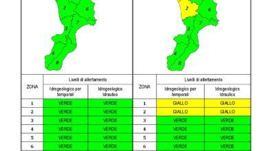 Criticità idrogeologica-idraulica e temporali in Calabria 06-02-2021