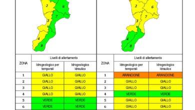 Criticità idrogeologica-idraulica e temporali in Calabria 08-02-2021