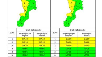 Criticità idrogeologica-idraulica e temporali in Calabria 09-02-2021