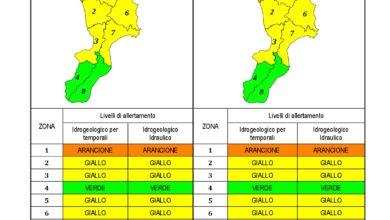 Criticità idrogeologica-idraulica e temporali in Calabria 10-02-2021