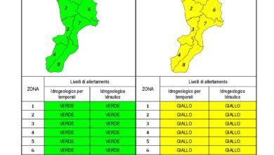 Criticità idrogeologica-idraulica e temporali in Calabria 12-02-2021