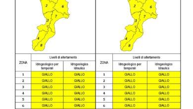 Criticità idrogeologica-idraulica e temporali in Calabria 13-02-2021