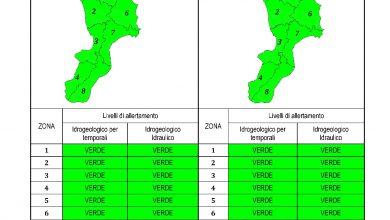 Criticità idrogeologica-idraulica e temporali in Calabria 04-03-2021