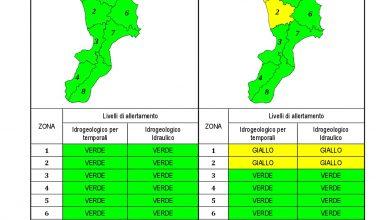 Criticità idrogeologica-idraulica e temporali in Calabria 12-04-2021