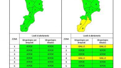 Criticità idrogeologica-idraulica e temporali in Calabria 17-04-2021