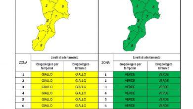 Criticità idrogeologica-idraulica e temporali in Calabria 19-04-2021
