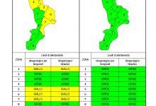 Criticità idrogeologica-idraulica e temporali in Calabria 20-04-2021