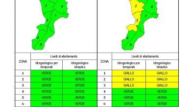 Criticità idrogeologica-idraulica e temporali in Calabria 21-04-2021