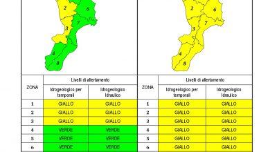 Criticità idrogeologica-idraulica e temporali in Calabria 22-04-2021