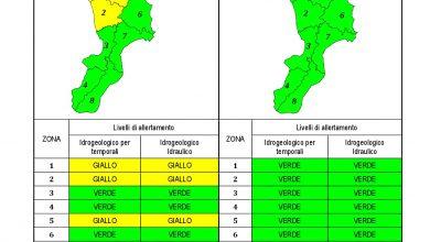 Criticità idrogeologica-idraulica e temporali in Calabria 24-04-2021