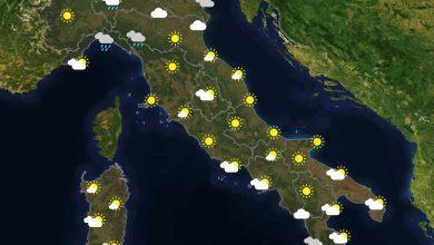 Previsioni del tempo in Italia per il giorno 06/05/2021