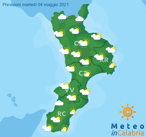 Previsioni Meteo Calabria 04-05-2021