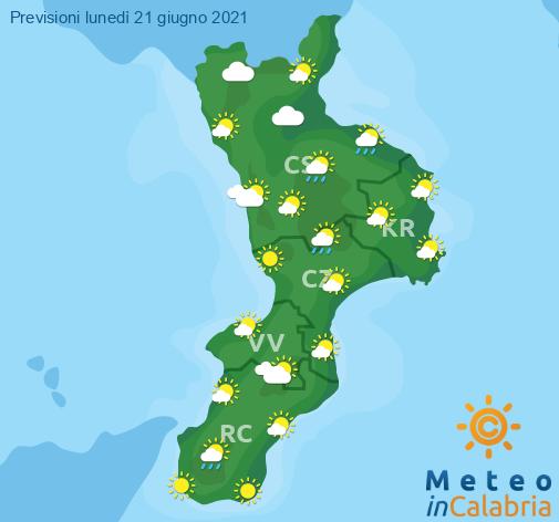 Previsioni Meteo Calabria 21-06-2021