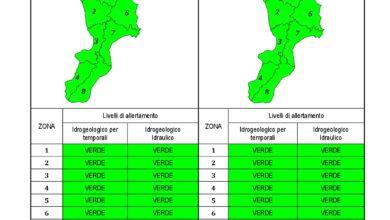 Criticità idrogeologica-idraulica e temporali in Calabria 06-06-2021