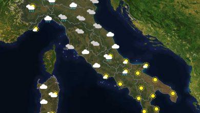 Previsioni del tempo in Italia per il giorno 25/07/2021