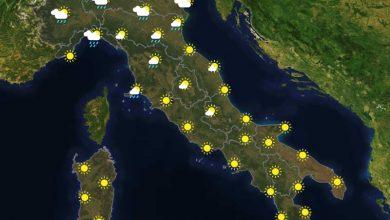Previsioni del tempo in Italia per il giorno 28/07/2021