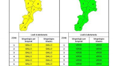 Criticità idrogeologica-idraulica e temporali in Calabria 19-07-2021