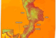 mappa temperature al suolo Calabria 2