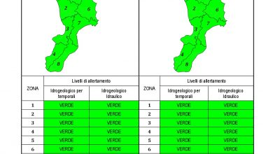 Criticità idrogeologica-idraulica e temporali in Calabria 04-08-2021