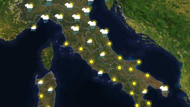 Previsioni del tempo in Italia per il giorno 19/09/2021