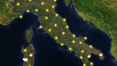 Previsioni del tempo in Italia per il giorno 24/09/2021