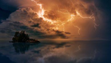 Pioggia temporale notte