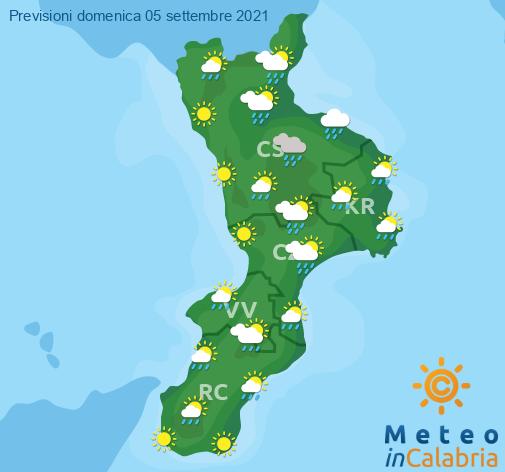 Previsioni Meteo Calabria 05-09-2021