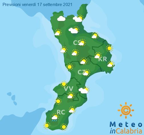 Previsioni Meteo Calabria 17-09-2021