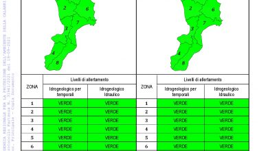 Criticità idrogeologica-idraulica e temporali in Calabria 18-09-2021