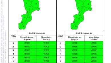 Criticità idrogeologica-idraulica e temporali in Calabria 20-09-2021