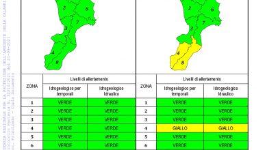Criticità idrogeologica-idraulica e temporali in Calabria 21-09-2021