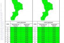 Criticità idrogeologica-idraulica e temporali in Calabria 25-09-2021
