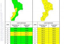Criticità idrogeologica-idraulica e temporali in Calabria 28-09-2021