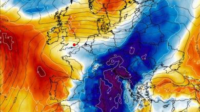 In arrivo aria fredda di origine artica