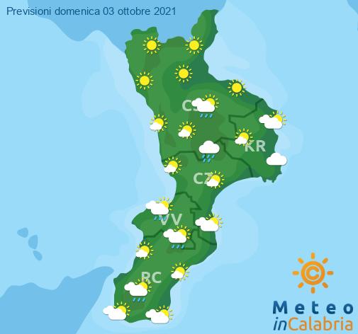 Previsioni Meteo Calabria 03-10-2021