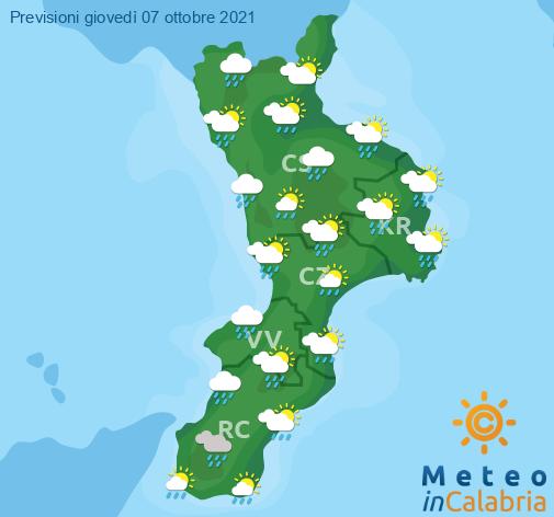 Previsioni Meteo Calabria 07-10-2021