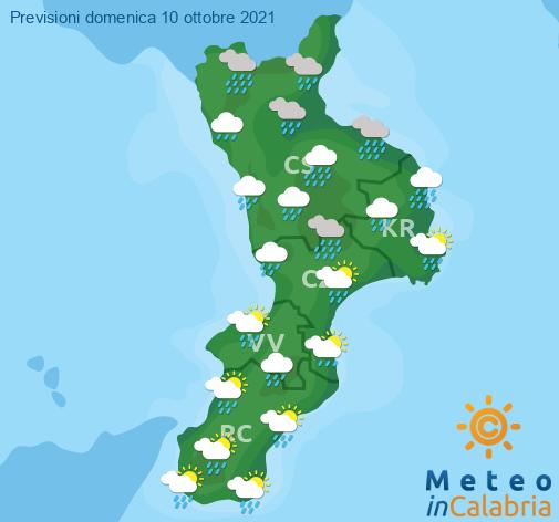 Previsioni Meteo Calabria 10-10-2021
