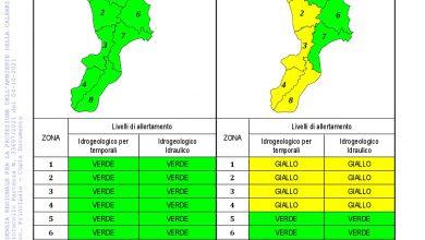 Criticità idrogeologica-idraulica e temporali in Calabria 04-10-2021